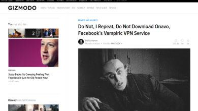 Photo of Onavo Protect de Facebook NO ES una VPN y no debes usarla