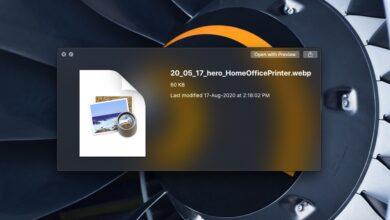 Photo of Cómo obtener una vista previa de archivos webp con Vista rápida en macOS